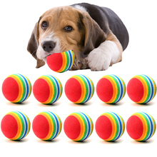 5/10/20pcs Funny Pet Toy Small Dog Toys 3.5CM Rainbow Colorful Play Balls Chew for Pets Products Interactive Supplies