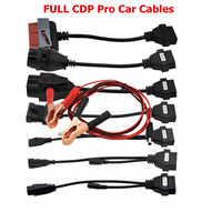 Kable OBD2 dla TCS CDP Pro samochody kable narzędzie do interfejsu diagnostycznego pełny zestaw 8 kable samochodowe bezpłatny skaner CDP 150