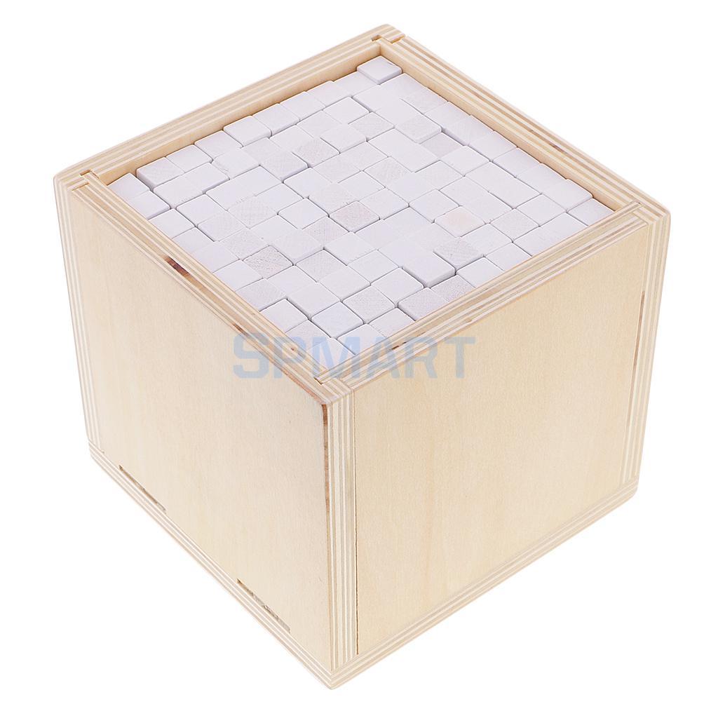 Дети ребенок Монтессори 1000 шт. Cube блоки головоломок белая коробка раннее развитие