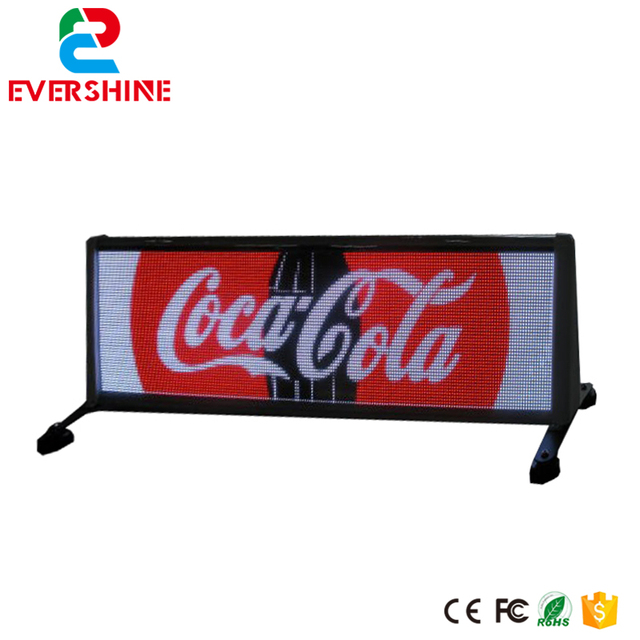 P6 dubbele kanten Taxi top reclame led video lichtkrant board