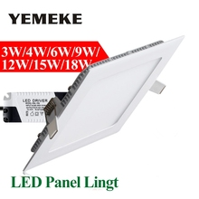 3w 4w 6w 9w 12w 15w 18w LED Panel Light Square LED Recessed Celing Lamp Bulbs Warm Cold White Spot LED Lighting Fixtures