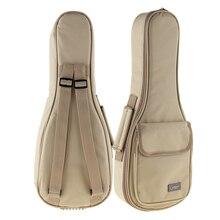 21 Inch Concise Khaki Ukulele Bag 15mm Sponge Soft Case Gig Bag Stereoscopic Mini Guitar Ukelele Backpack цена