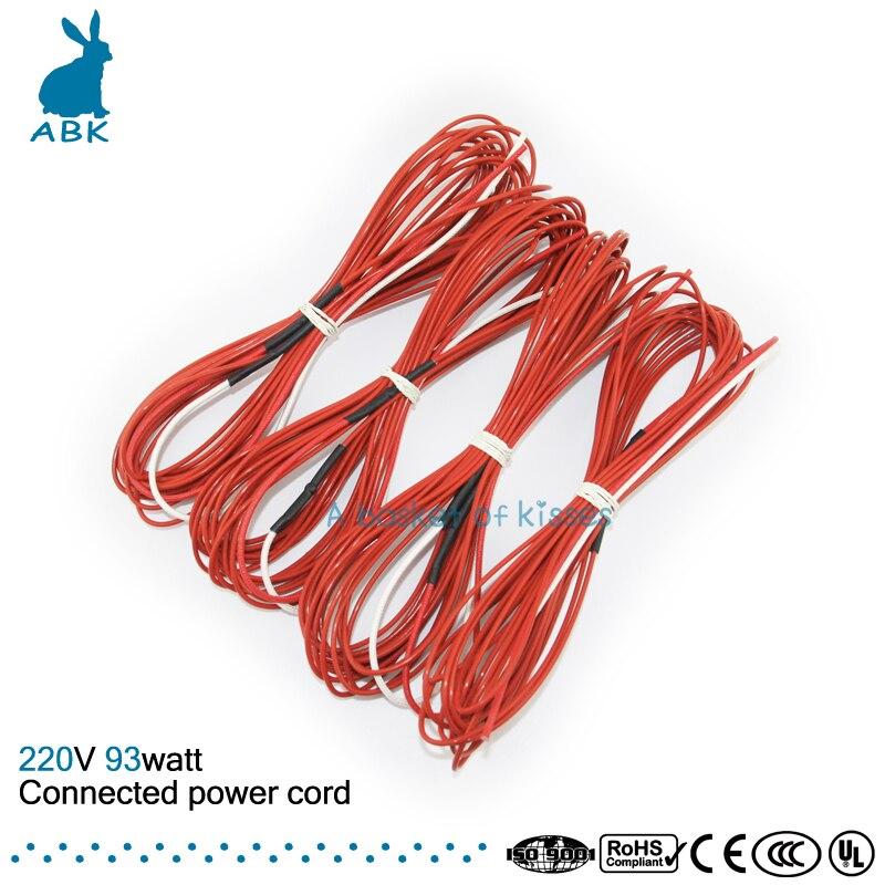 F6K 7meters 93w 66ohm Carbon fiber heating wire PTFE Teflon ...