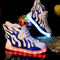 LED Kids Sneakers Girls Luminous Wing Shoes Kids Pu Charging USB Children Sport  Shoes Fire Girls Sport Shoes China Shop Online