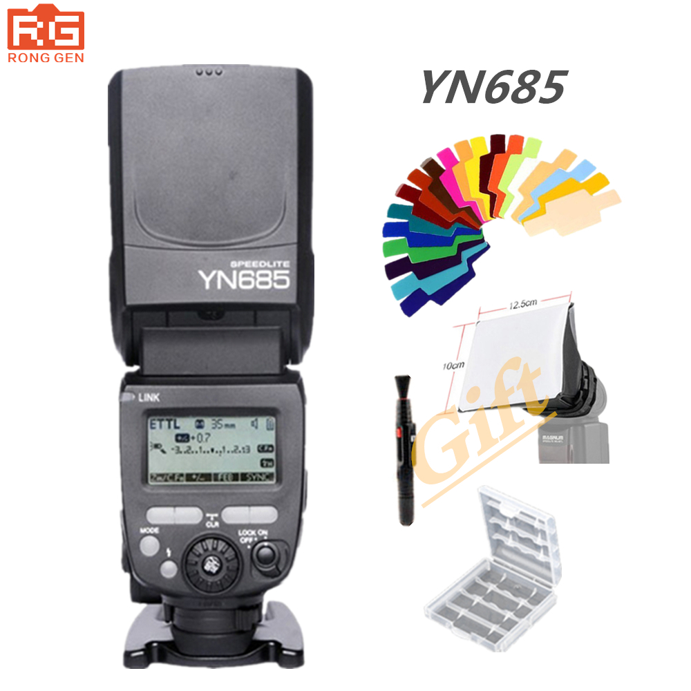 YONGNUO GN60 YN685 Wireless TTL Flash Speedlite HSS 1/8000 for Canon Nikon support YN560IV YN560-TX RF605 RF603 II YN685C YN685N  yongnuo yn 560 iv yn560 wireless ttl hss master radio flash speedlite 2pcs rf 605c rf605 lcd wireless trigger for canon camera