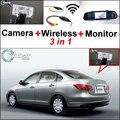 3 in1 Especial Cámara de Visión Trasera + Receptor Inalámbrico + Monitor del espejo DIY Fácil Sistema de Aparcamiento Para Nissan BlueBird Sylphy 2008 ~ 2010