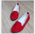2016 venta caliente de primavera y otoño zapatos rojos de las mujeres zapatos planos del color del caramelo de las mujeres Embarazadas zapatos 35-42 #
