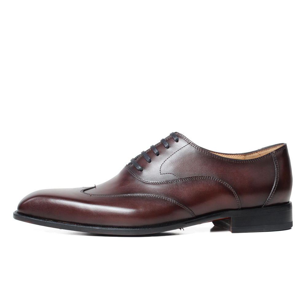 VIKEDUO Genuine Leather Brogues Shoes Handmade Wedding Square Toe Men 39 s Shoes Formal Dress Footwear Fashion Zapatos de Hombre in Oxfords from Shoes
