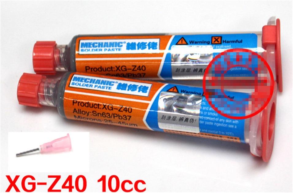 Brand New 2pcs/lot 100% Hong Kong MECHANIC XG-40 BGA Solder Flux Paste Soldering Tin Cream Sn63/Pb37 25-45um XG-Z40 brand new 2pcs lot 100