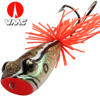AnglerDream Artificial Bait Plastic Frog Lure VMC 3 0 Double Hook Pike Fishing Bait 58MM 11