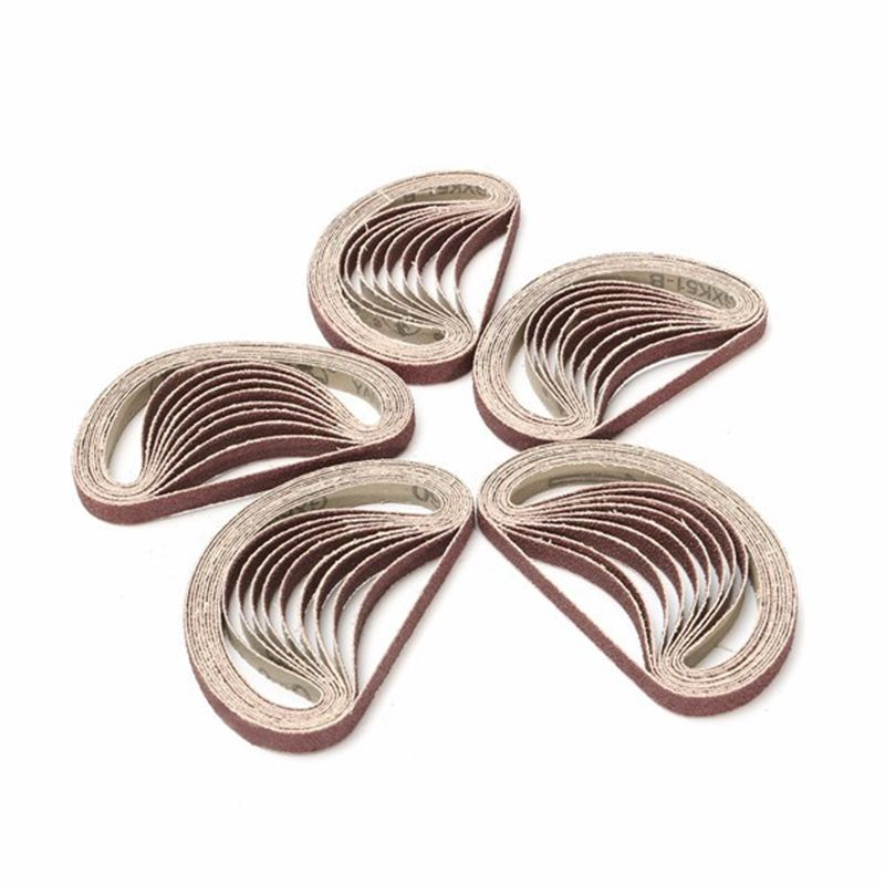 New 10Pcs/set 60 To 600 Grit 15mm X 452mm Sanding Belts For Angle Grinder Sanding Belt Adapter Polishing Sanding Grinding