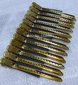 Llegan nuevos de metal pinzas para el cabello clips 12 unids/pack pin de oro de color de pelo profesional