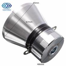 1Pcs 100W 28KHz אלומיניום סגסוגת קולי פיזואלקטריים מתמר מנקה כסוף גבוהה ביצועים שואב קולי חלקים