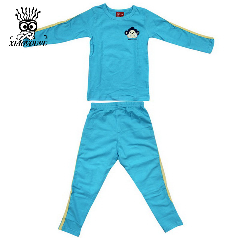 XIAOYOUYU Size 100 140 Lovely Girls Boys Cartoon Pajamas