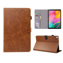 For Samsung Galaxy Tab S5e 10.5 T720 T725 Tablet Case Crazy Horse Pattern PU Leather Flip Stand Case with Card Slots Pen Loop