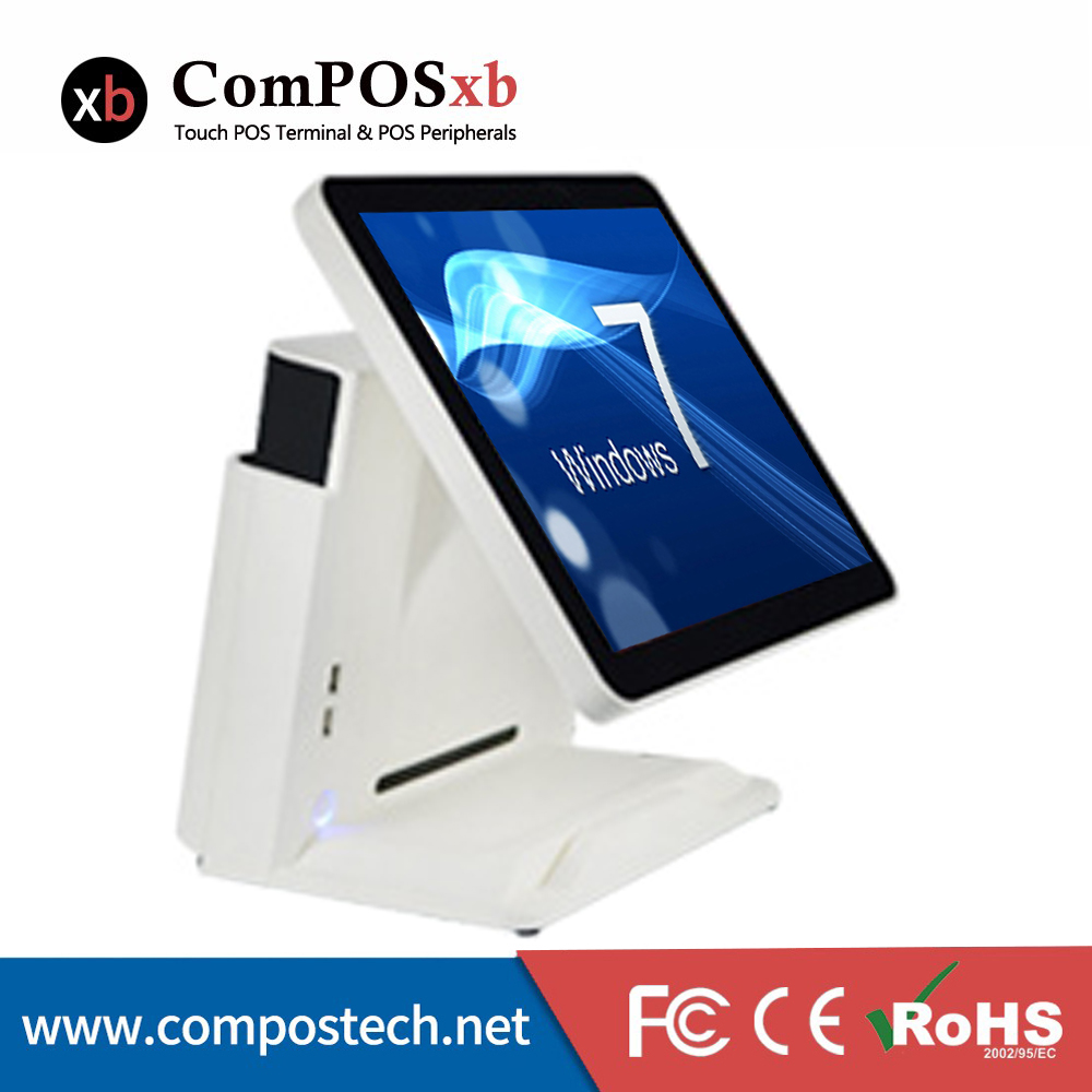 "Free Shipping Stock POS System 15"" 5 wire Resistive Touch Screen All In One Machine For Restaurant-in LCD Monitors from Computer & Office    1"