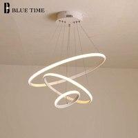 Минималистский кольца современный светодио дный подвесной светильник для гостиной столовой Кухня дома Hanglamp акрил светодио дный подвесной