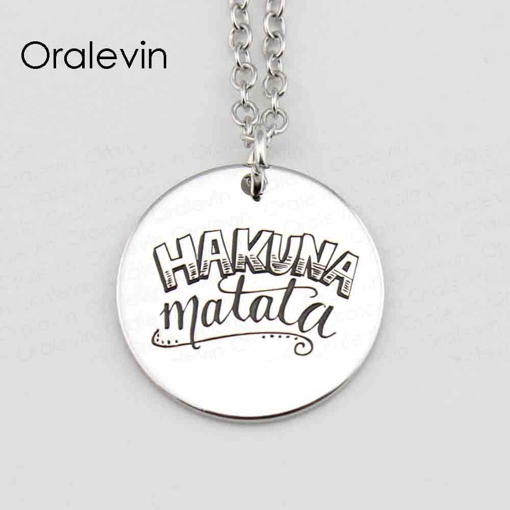 Buy Hakuna Matata Necklace And Get Free Shipping On Aliexpress
