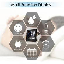 Voice Control LCD Screen Thermometer Clocks Indoor Humidity Monitor Electronic Digital Display Temperature Alarm Clock Calendar
