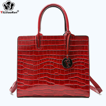 цены Luxury Crocodile Pattern Women Handbags Fashion Sequined Shoulder Bag Female Big Tote Bag Brand Leather Crossbody Bags for Women
