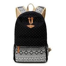 Печати холст рюкзак женские милые школьные рюкзаки для девочек-подростков старинные ноутбук сумка рюкзак женский школьный
