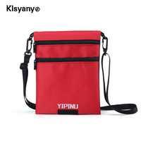 Klsyanyo Double Sided Available ID Card Holder RFID Blocking Travel Multifunction Neck Pouch Passport Holder Travel