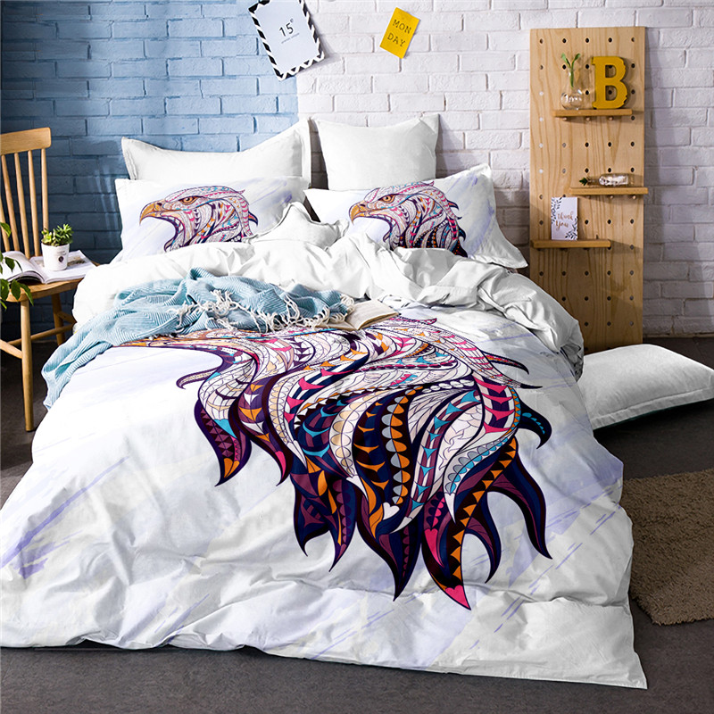 white style bed covers usa twin full queen king size bald eagle bedding set tiger horse owl. Black Bedroom Furniture Sets. Home Design Ideas