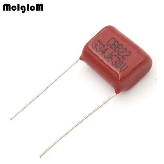 MCIGICM 1000 pcs 334 330nF 630V CBB Polypropylene film capacitor pitch 15mm 334 330nF 630V