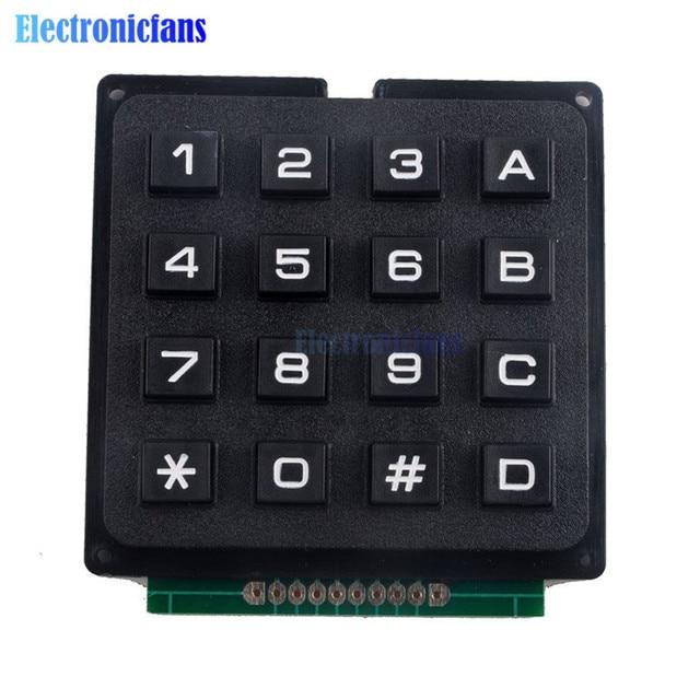 4x4 مصفوفة صفيف 16 مفاتيح 4*4 التبديل لوحة المفاتيح وحدة لوحة المفاتيح لاردوينو