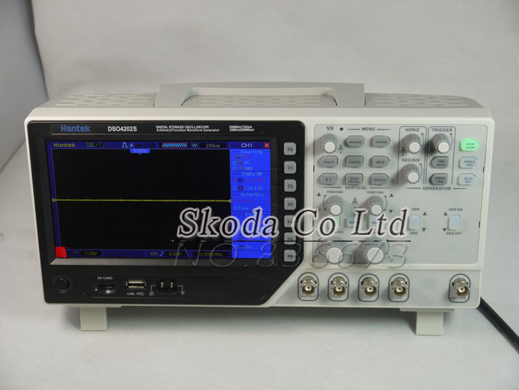 Hantek DSO4102S Newest Digital storage oscilloscope 7 64K TFT LCD screen 2 channel 100M 1GSa/s Arbitrary waveform Oscilloscopes hantek dso4202c digital storage oscilloscope 2ch 200mhz 1 channel arbitrary function waveform generator factorydirectsales