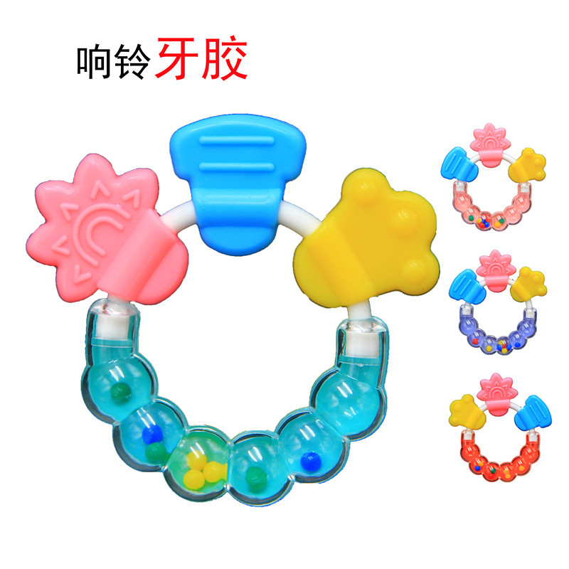 Cheap Silicone Teething Toys Newborn Baby Teether Silicon Bpa Free Teethers Pendant Necklace Colors Beads Chew Gift for Kids