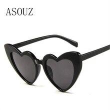 ASOUZ new fashion ladies sunglasses classic retro brand design heart-shaped mens glasses UV400 driving reflective
