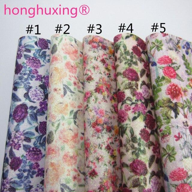 """Folha A4 8 """"X 11.8"""" Glitter tecido com flor de tecido de couro de couro Para arcos craft & Costura & arco DIY 1 peça F0507"""