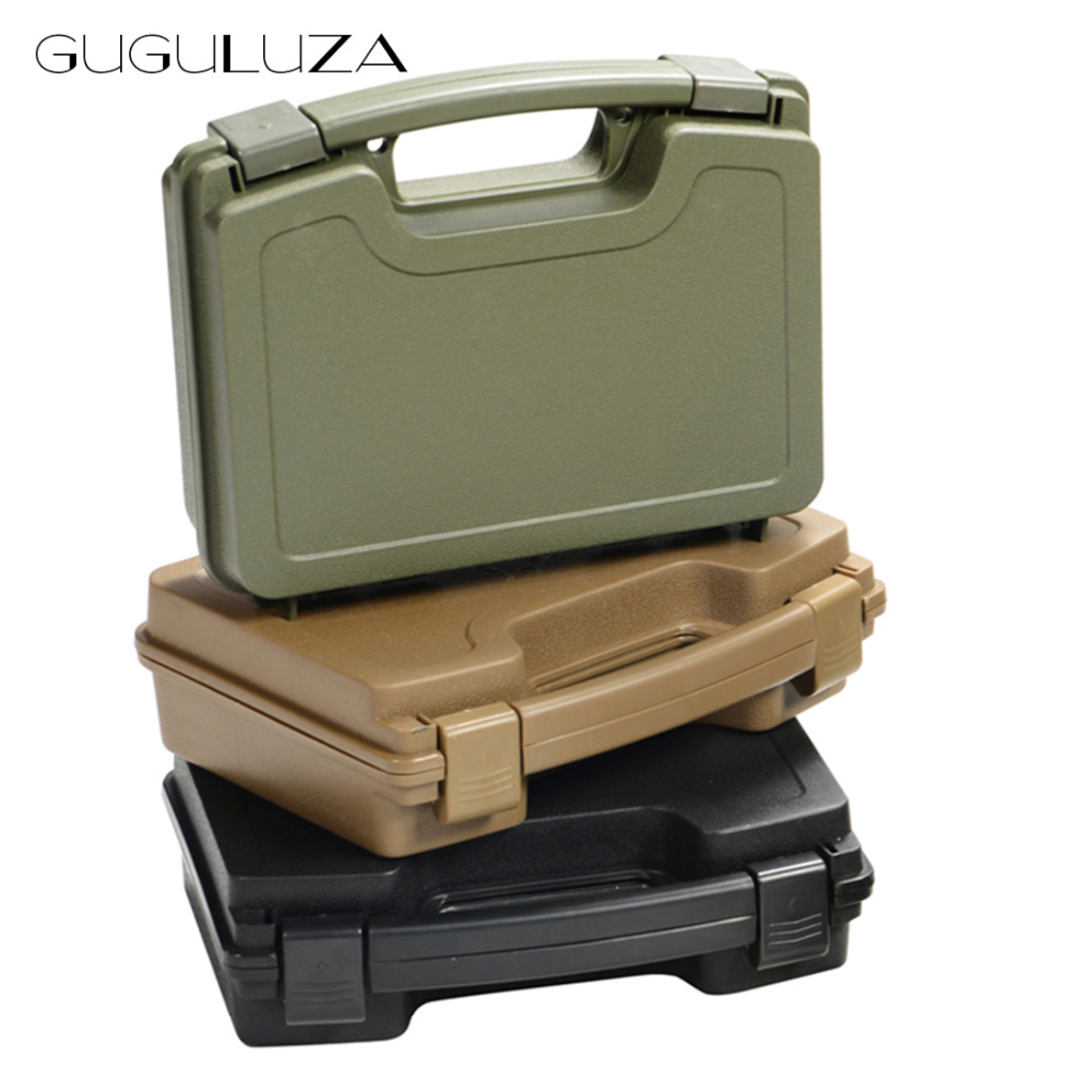 GUGULUZA ABS Pistol Case Tactical Hard Pistol Storage Case Gun Case Padded Hunting Accessories Carry Boxs for Hunting Airsoft