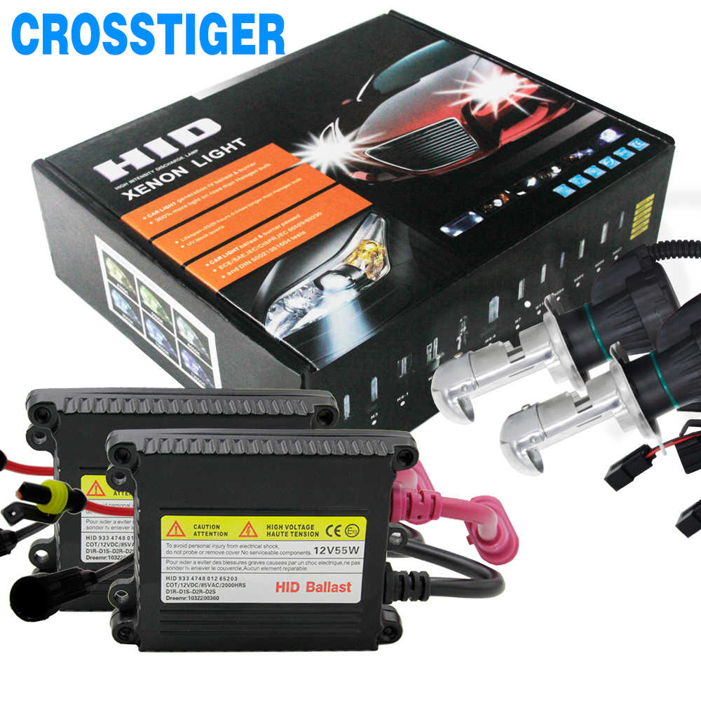 1 Set 55W HID Kit Xenon H7 4300/6000/12000/3000k HID Car Headlight Bulbs Conversion Kits For H1 H3 H11 9006 9005 9007 880 H13 H4