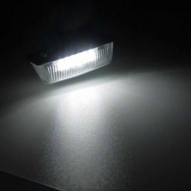 Eonstime 2 uds coche 12V 18LED de las luces de la matrícula de SMD para Toyota Corolla_E11 corona S180 estrella EP91 Vios Previa ACR50... GSR50