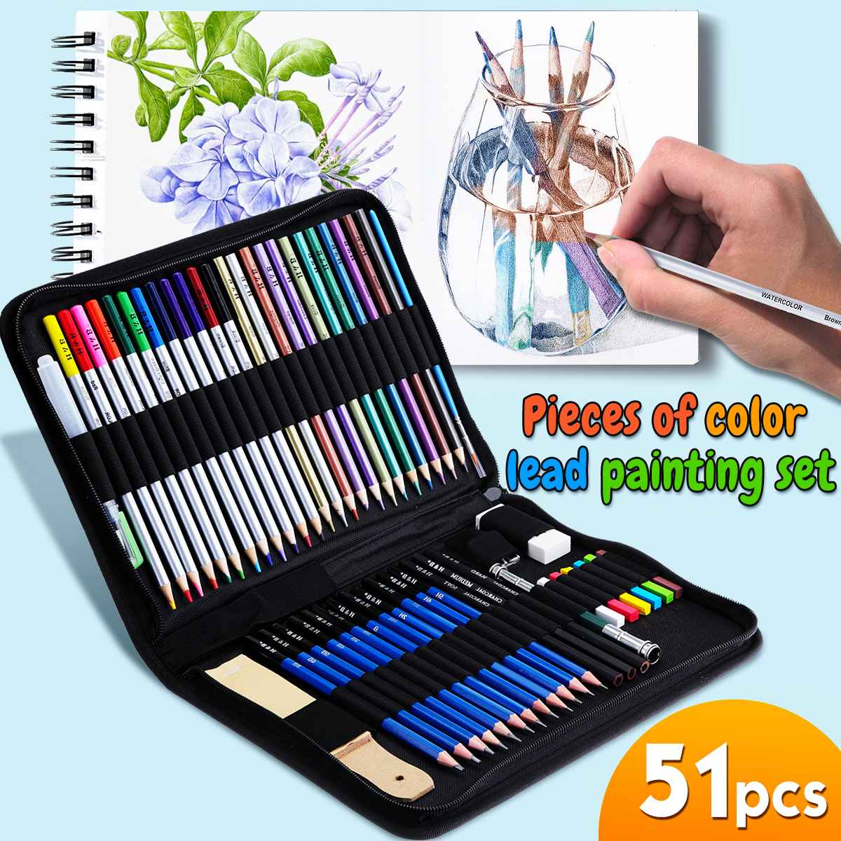 Sketch Drawing Art Set Artist Kit 28 pcs Charcoal Pencil Set Charcoal Art Tools