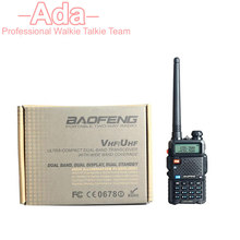 10PCS NEW BAOFENG UV-5R WALKIE TALKIE pair Black ham two way radio dual band vhf uhf Portable radio baofeng uv 5r 2 comunicador