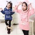 One Piece 6-12 Years Baby Girls Sweatshirt Thick Fleece Children Hoodies 2015 Spring&Fall Cat Children's Clothing Kids Clothes10
