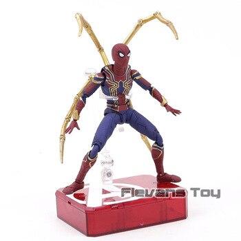 מארוול נוקמי מלחמת אינסוף ברזל עכביש PVC פעולה איור ספיידרמן צעצועי מתנות