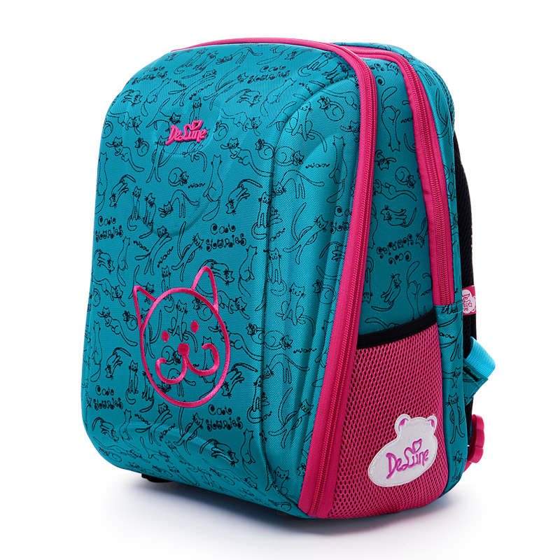 цена на Delune New Children School Backpack For Girls Boys School Bag Butterfly Pattern Backpacks Orthopedic Mochila Infantil Grade 1-5