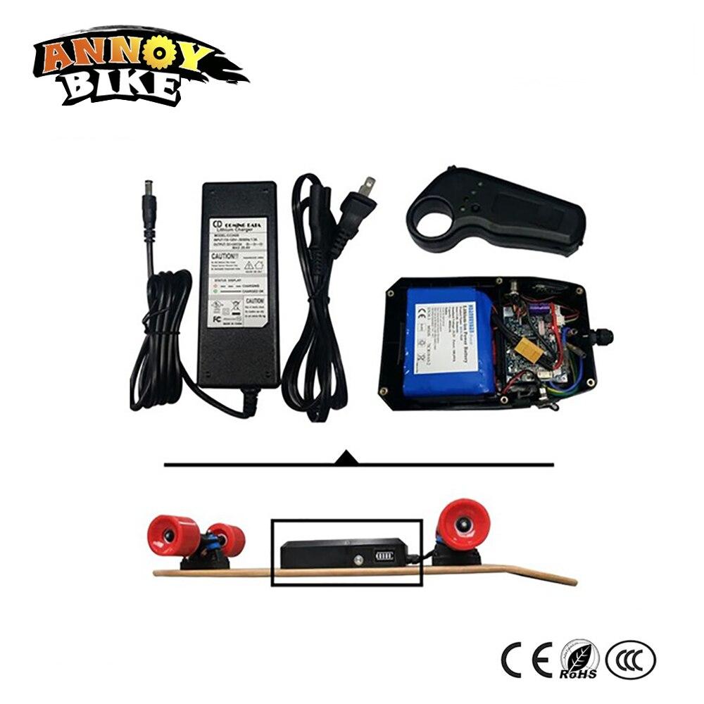 Kit de planche à roulettes électrique Double entraînement batterie 36 v 4.4Ah avec carte de commande et télécommande