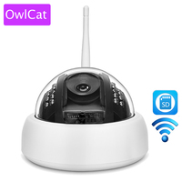 OWLCAT Onvif Wireless Dome IP Camera Indoor HD 720P WIFI Dome CCTV Security Support 64G SD