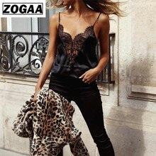 ZOGAA Women Ladies Summer Lace strap Off-shoulder Blouses 2019 Women Black Sleeveless Tank Tops Casual Blouses Crop Tops