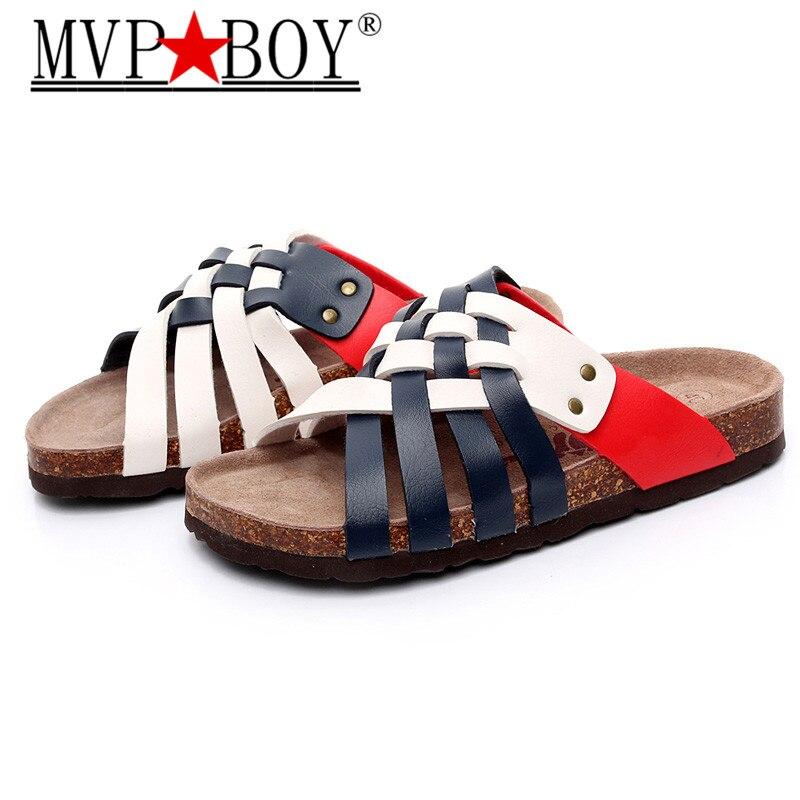 Size 39-45 Roman style summer cool man sandals cork shoes men beach slippers,flips flops
