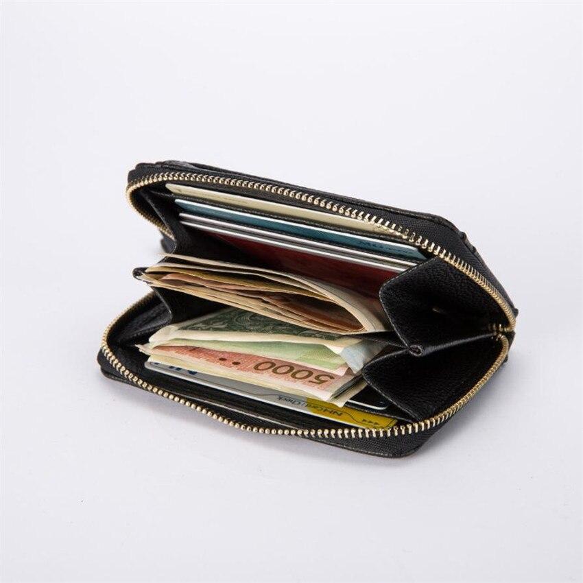 MOLAVE Wallets Wallet Men Solid CardHolder Zipper Men Business Wallet Vintage PUrse High Quality ID Credit CardPockets May29