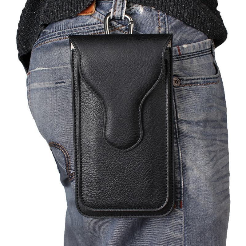 BISI GORO Fashion On The Belt Sports Outdoor Phone Case Men Waist Bag Double Layer Protection Heuptas Heren  Pothook Belt Pack