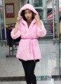2016 real coelho casaco de pele