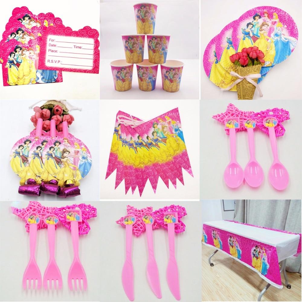 74 шт disney принцесса счастлива День рождения украшения набор Babyfavor фестиваль вечерние комплект поставки