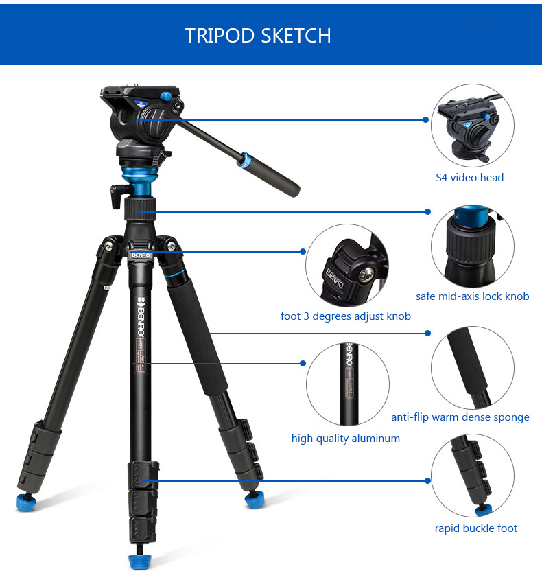 A2883FS4 Video Tripod 02-4